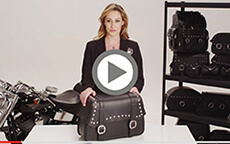 Harley Davidson Softail Charger Straight Studded Bags Installation Video 2