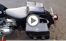 Harley Sportster customer motorcycle Bags videos 3