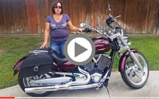 Lorie's 2008 Victory Low Charger Single Strap Motorcycle Saddlebags Review