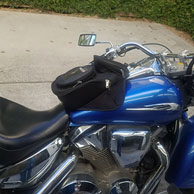 07 Honda VTX 1300 w/ Motorcycle Retro Tank Bag
