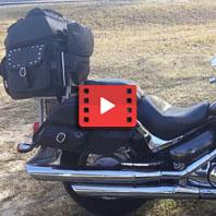 Suzuki Intruder 800 Side Pocket Leather Saddlebags