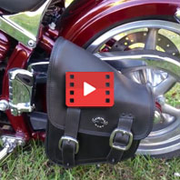 2009 Harley-Davidson Softail Rocker Custom Swing Arm Bag Review