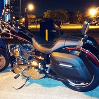 14 Harley-Davidson Dyna Super Glide w/ Lamellar Hard Motorcycle Saddlebags