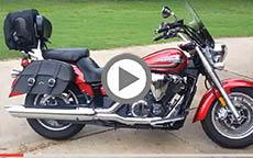 2014 Yamaha V Star 1300 Motorcycle Saddlebags Sissy Bar Bag Review