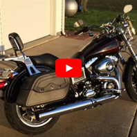 2015 Harley-Davidson Dyna Low Rider Motorcycle Saddlebags Review - vikingbags.com