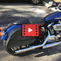 2015 Harley-Davidson Sportster 1200 Custom Motorcycle Saddlebags Review