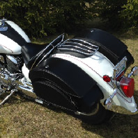 Carter's 05 Yamaha V Star 1100 w/ Overlord Motorcycle Saddlebags