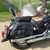 Adam's Yamaha V Star 650 Classic w/ Side Pocket Saddlebags