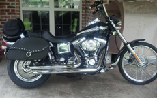 Bryan's '03 Harley-Ddavidson Dyna Wide Glide w/ Studded Leather Motorcycle Saddlebags