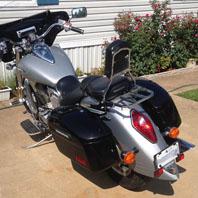 Bryce's Honda VTX 1300 R w/ Lamellar Series Hard Saddlebags