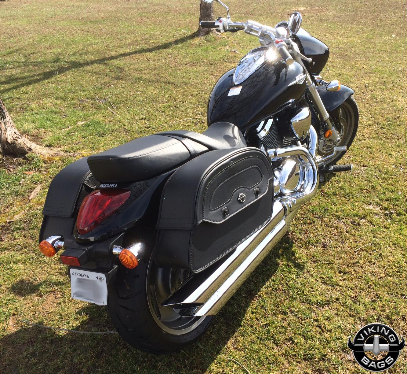 Suzuki boulevard m90 motorcycle saddlebags universal for Motor cycle saddle bags