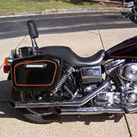 Charles' '05Harley-Davidson Dyna Super Glide w/ Lamellar Hard Series Motorcycle Saddlebags