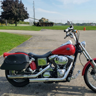 Cherry's '02 Harley-Davidson Dyna Wide Glide w/ Warrior Series Motorcycle Saddlebags