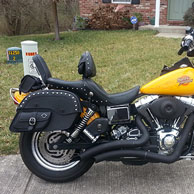 Clinton's '00 Harley-Davidson Dyna Wide Glide w/ Side Poket Studded Motorcycle Saddlebags