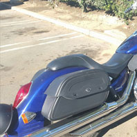 Dan's '02 Honda VTX 1800 w/ Warrior Series Leather Saddlebags