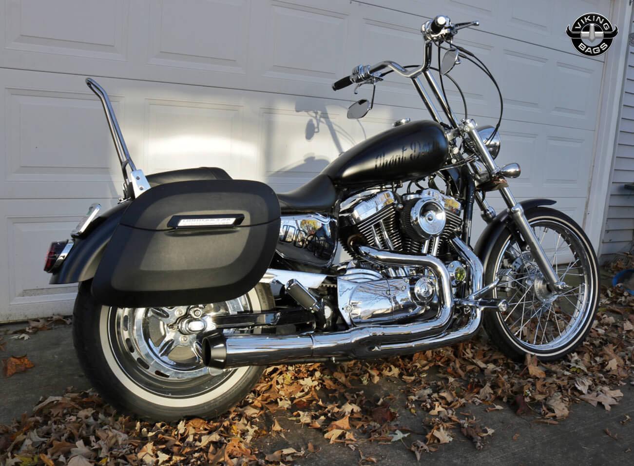 Daniels Harley Davidson Sportster 1200 Custom W Lamellar Hard Saddlebags