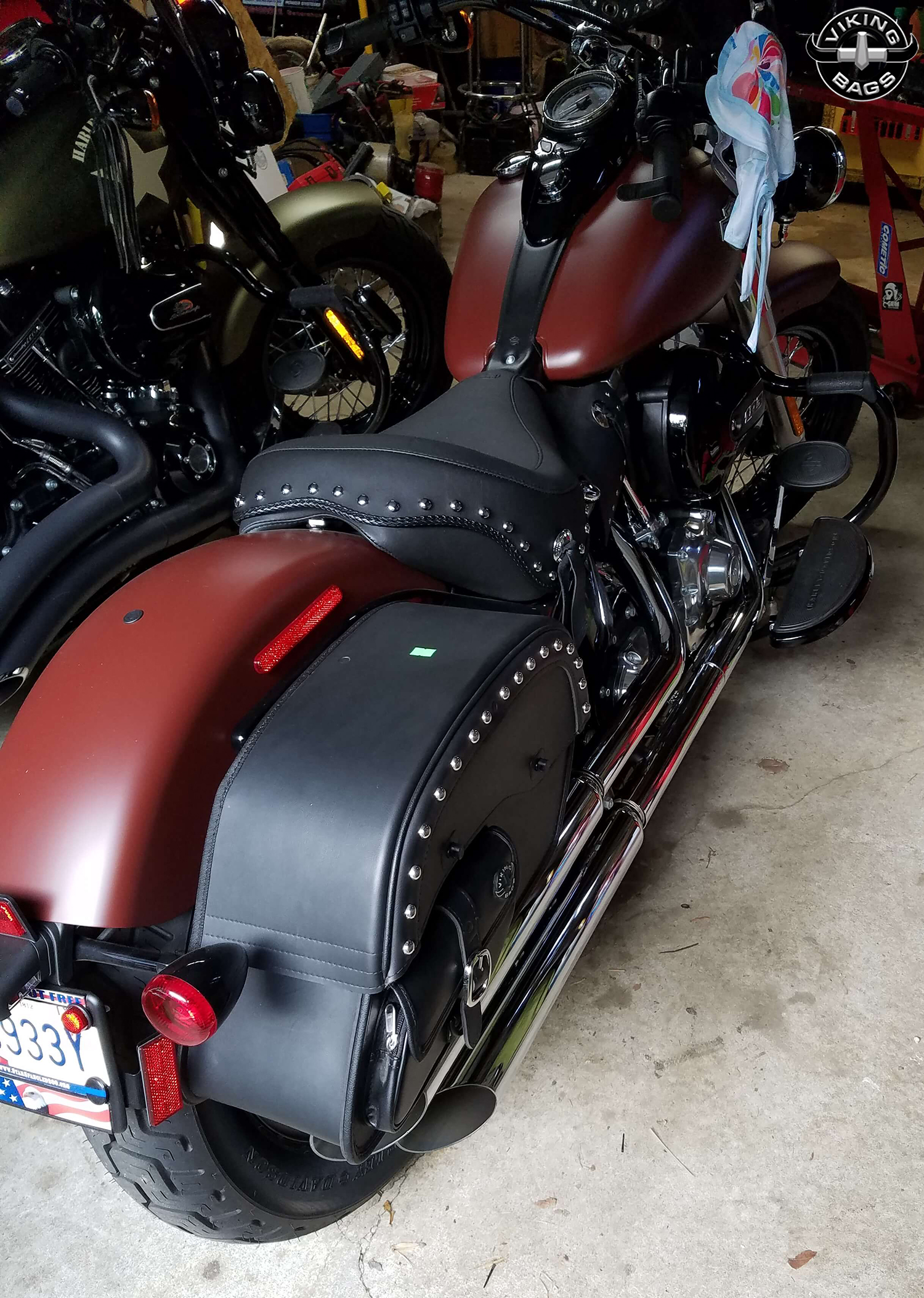 Harley Davidson Saddlebags: Throw Over Saddlebags For Harley Softail