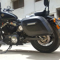 Deepak's Harley-Davidson Sportster 48 w/ Lamellar Hard Saddlebags
