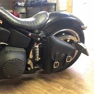 Duane's Harley-Davidson Softail w/ Swing Arm Leather Solo Bag