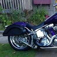 Dwight's '02 Harley-Davidson Softtail Deuce w/ Prima Motorcycle Leather Saddlebags