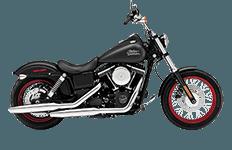 Harley Davidson Dyna Street Bob Motorcycle Saddlebags
