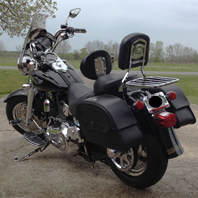 Gary's '03 Harley-Davidson Anniversary Softail Fat Boy w/ Warrior Series Motorcycle Saddlebags