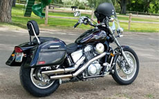 Greg's Honda Shadow Spirit 1100 w/ Motorcycle Hard Saddlebags