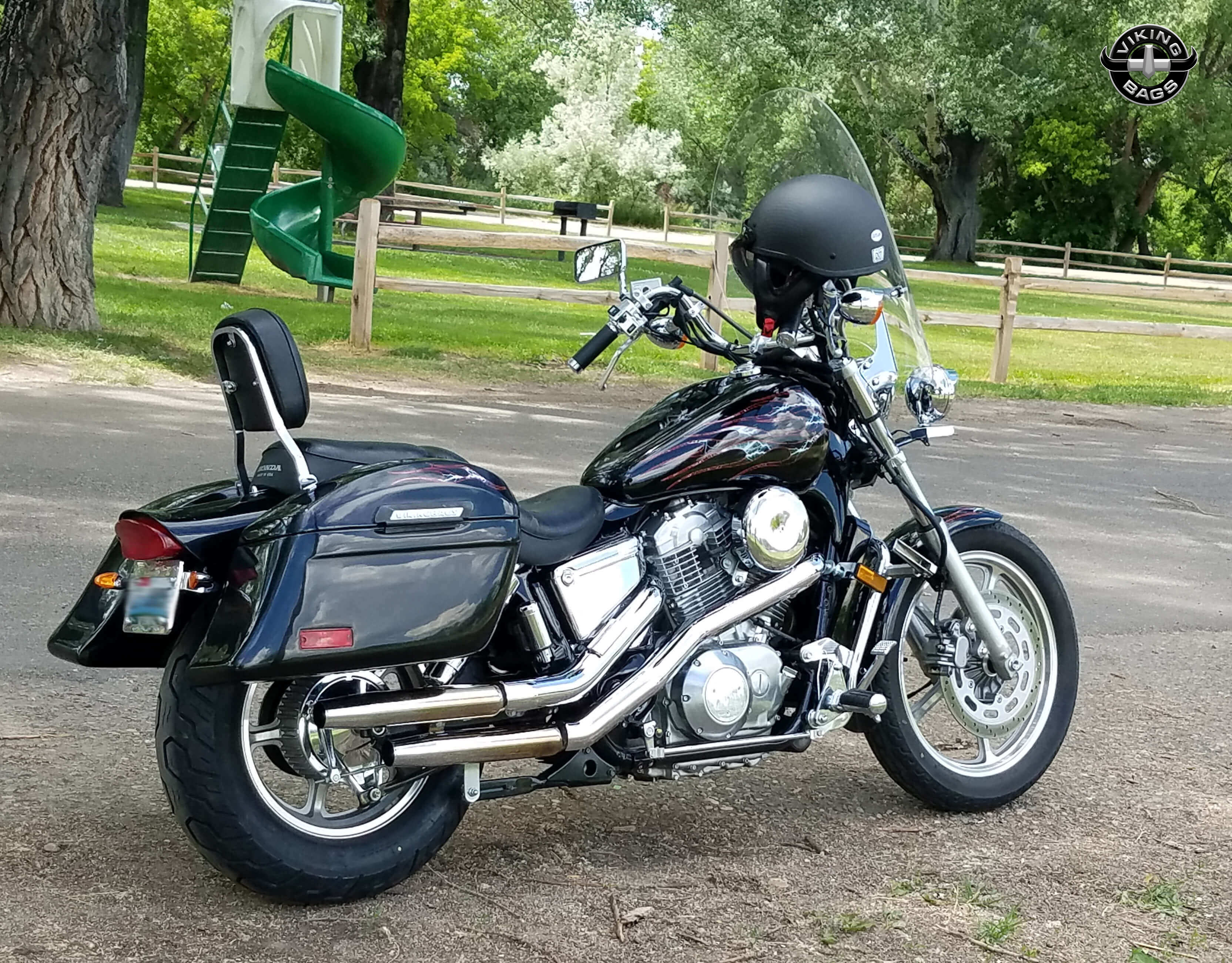 Honda Shadow Saddlebags Shop Bags For 1983 Vt500c Parts Gregs Spirit 1100 W Lamellar Hard Motorcycle