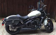 Smith's '16 Kawasaki Vulcan S w/ Leather Studded Motorcycle Saddlebags