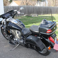 Greg's '02 Honda VTX 1800 R w/ Charger Series Motorcycle Saddlebags