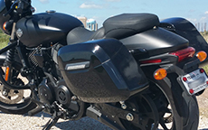 Kenneth Edward's Kawasaki Vulcan w/ Lamellar Hard Bag