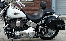 Timothy Ingle's '00 Kawasaki Vulcan w/ Side Pocket Studded Motorcycle Bag