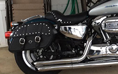 Terry Wooley's Kawasaki Vulcan w/ Charger Studded Motorcycle Bag