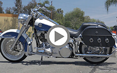 Suzuki Intruder customer motorcycle saddlebag video