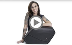 Harley Davidson Dyna Specific Large Shock Cutout Motorcycle Saddlebags Manufacturer Video