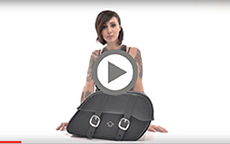 Kawasaki Vulcan Charger large Shock Cutout Large Slanted Bag Installation Video
