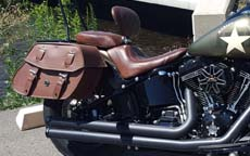 Opie's '16 Harley-Davidson Softail Slim w/ Odin Brown Leather Motorcycle Saddlebags