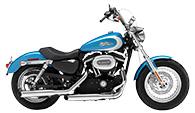 Harley Davidson Sportster 1200 Custom Motorcycle Saddlebags