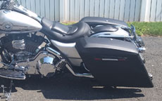 Edward's Harley-Davidson Road King w/ Extended Touring Bagger Leather Motorcycle Saddlebags