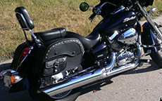 Larry Hughes' Honda Shadow Aero w/ Studded Side Pocket Honda Motorcycle Saddlebags