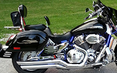 William Duke Sr's '05 Honda Shadow w/ Lamellar Hard Bags