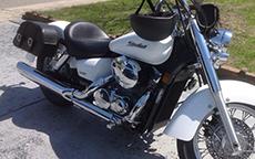 Vickie Wilson's '07 Honda VTX Charger Motorcycle Bags