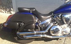 Todd Spencer's Honda Motorcycle Saddlebags