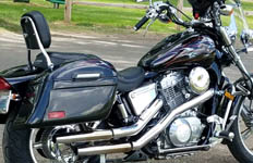 Greg's Honda Shadow Spirit 1100 w/ Lamellar Hard Motorcycle Saddlebags