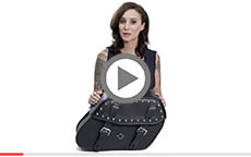 Honda VTX Odin Large Studded Leather Motorcycle Saddlebags Review