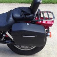 Honda Shadow 600 VLX Hard Saddlebags