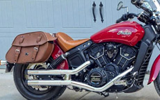 Tom's '16 Indian Scout Sixty w/ Odin Brown Saddlebags