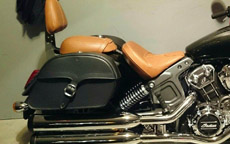 Mack's Indian Scout w/ Charger Single Strap Saddlebags