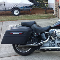 Holmes' '06 Harley-Davidson Softail w/ Touring Bagger Leather Covered Stretched Saddlebags