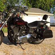 James' '15 Harley-Davidson Dyna Low Rider w/ Warrior Series Saddlebags